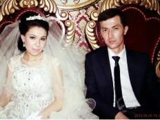 Das einander noch fremde Hochzeitspaar