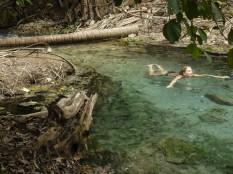 Schwimmhund in Äckschn