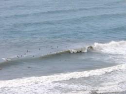 Surfer in Byron Bay, eine halbe Fahrradstunde entfernt