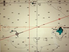 Frohlockt nur auf dem Bildschirm: Als wir das Mororoa-Atoll passieren, versteckt es sich hinter dem Horizont